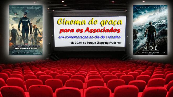 SEMANA DO TRABALHO - CINEMA DE GRAÇA PARA ASSOCIADOS