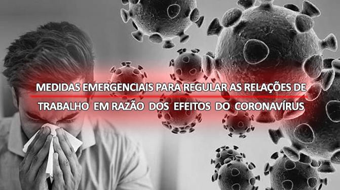 MEDIDAS EMERGENCIAIS - CORONAVÍRUS