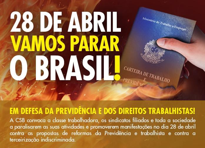 28 DE ABRIL VAMOS PARA O BRASIL !