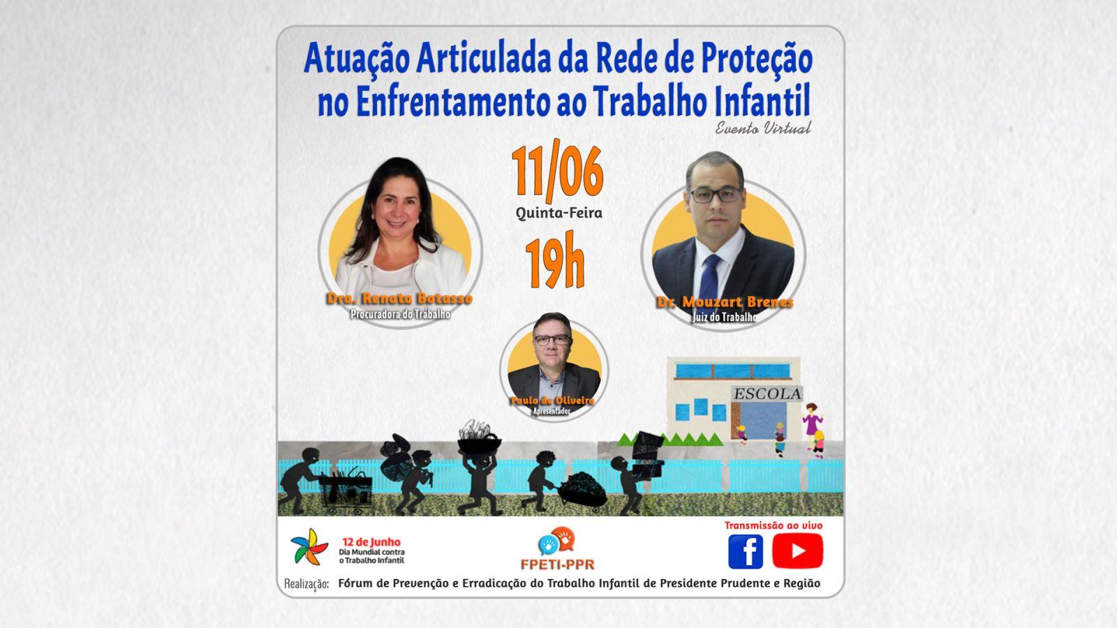 FÓRUM DE COMBATE AO TRABALHO INFANTIL - LIVE
