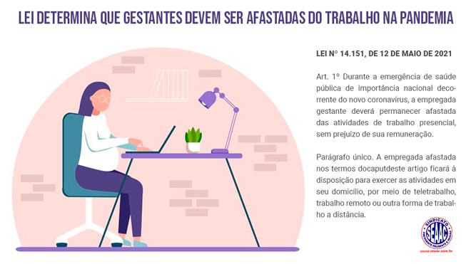 PANDEMIA: GESTANTE DEVE SER AFASTADA DO TRABALHO