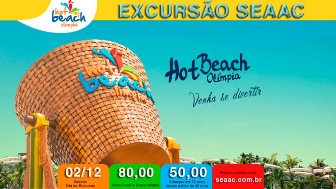 HOT BEACH É O DESTINO DA EXCURSÃO DO SEAAC 2017