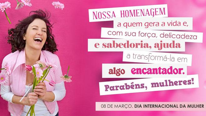 8 DE MARÇO - FELIZ DIA INTERNACIONAL DA MULHER